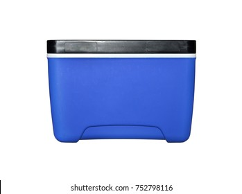 Handheld refrigerator isolated on white background. selective focus. Clipping path included.