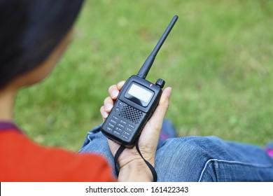 Handheld  walkie talkie for outdoor