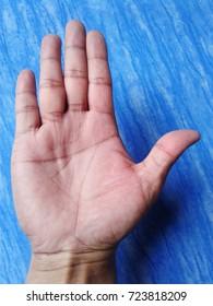 Hand,Human hand  Human hand, hands, blue background