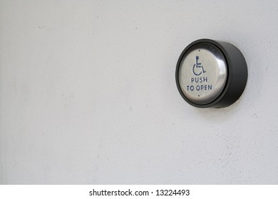 handicap button for door with copy space