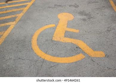 Handicap parking on road