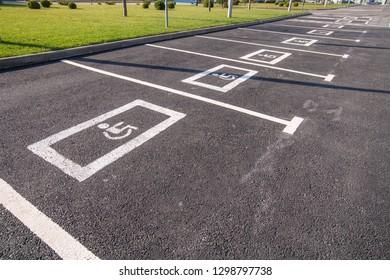 handicap parking outdoor