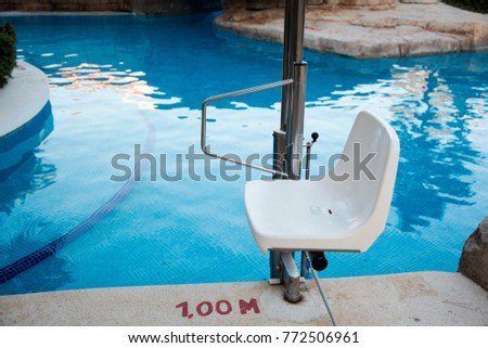 Handicap Pool Lift Picture Portable Aquatic Stock Photo Edit Now