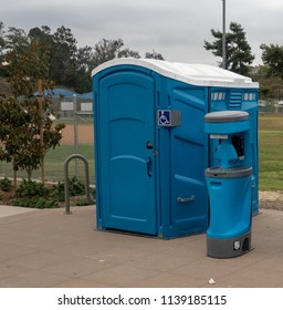 Handicap Portable Toilet in a Park