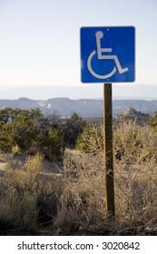 Handicap sign in the desert southwest