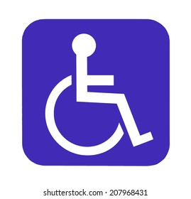 Handicap sign for special toilet
