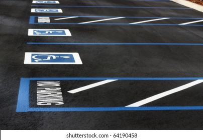 Handicapped parking spaces