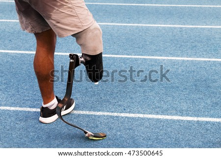 The handicapped runner with