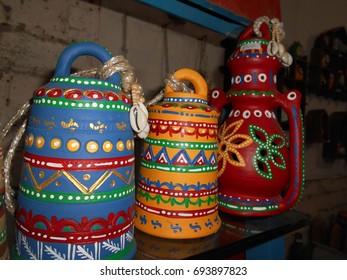 Handicraft items at Delhi Haat.
