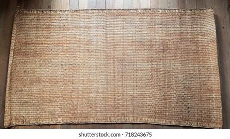 handicraft mat background,Texture of native thai style weave sedge mat background.