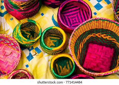 Handicraft products of an indigenous tribe in Brazil