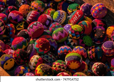 Handicrafts,  balls for children made  by Maya people in Antigua, Guatemala.