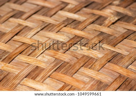 Handicrafts Bamboo Crafts Traditional Products Thailand Stock Photo