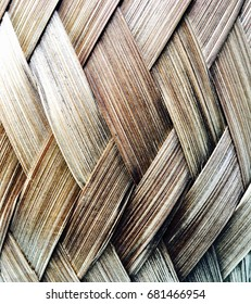 Handicrafts Thailand Basketry Made from hand, natural,  beautifully patterned Pattern work line background image Handcraft and weave And made from coconut leaves.