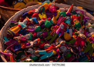 Handicrafts,Guatemalan Worry Dolls. (quitapenitas)