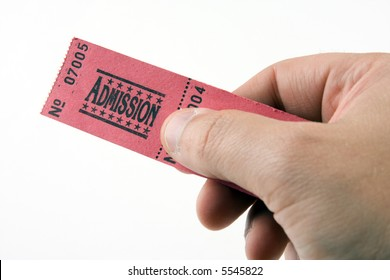 Handing over an admission ticket