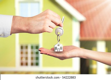 Handing Over the Key from a New Home