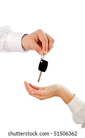 Handing over the key to new owner - isolated