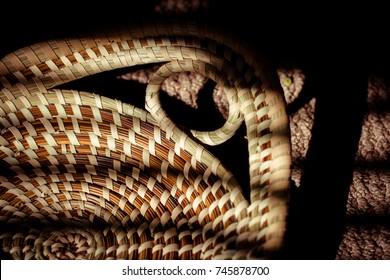 Handle of an African Gullah bread basket