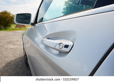 Handle of a car door