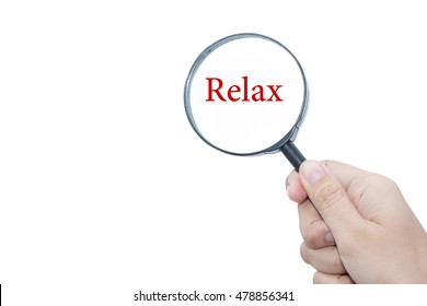 Handle Magnifier word Relax
