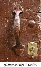 handle in an old door