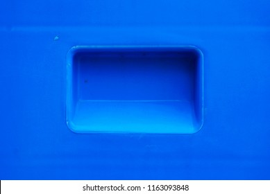 Handle of plastic box,blue plastic texture and background