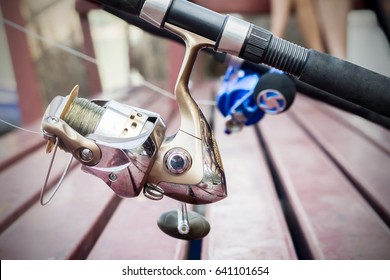 Handle rod and reel for fishing of a fisherman.