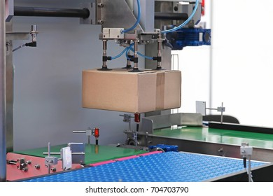 Handling packages at automated line in distribution depot