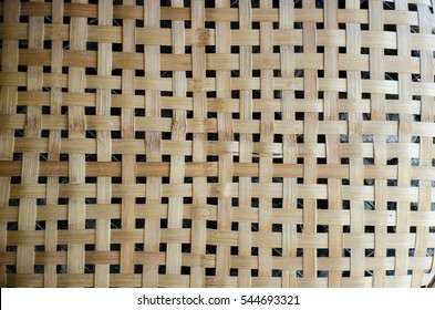 Handmade bamboo craft weave decor design texture and wallpaper