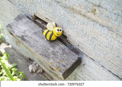 ca33d1e974 Plasticine World Handmade Bee On On Stock Photo (Edit Now) 718148398 ...