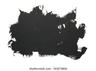 handmade black strokes- background. painted by brush