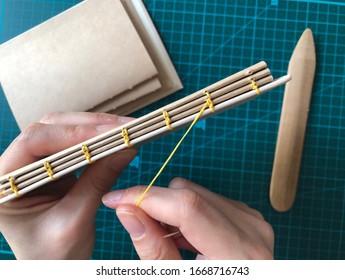hand-made book binding craft paper notebook