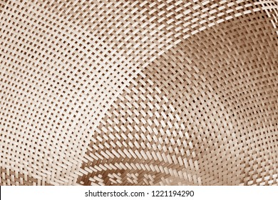handmade brown bamboo or wicker weave texture background