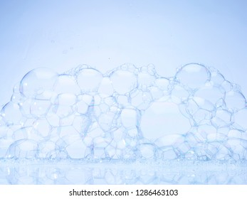 Handmade Bubbles on Blue Background