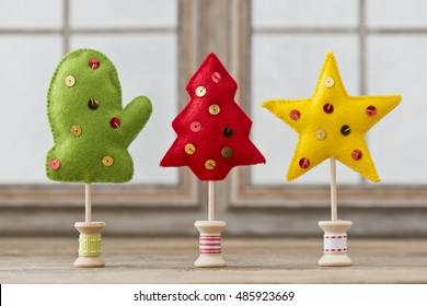 handmade christmas decoration from felt