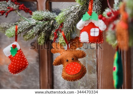 handmade christmas decorations felt christmas moose - Christmas Moose Decorations