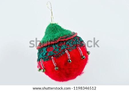 Christmas Tree Toys Handmade.Handmade Christmas Tree Toys Stock Photo Edit Now