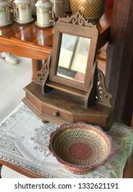 Handmade colorful Thai Benjarong craft from Baan Bang Chang, Samutsongkram, Thailand