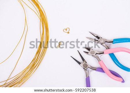 Incredible Handmade Copper Wire Jewelry Tools Stock Photo Edit Now 592207538 Wiring 101 Cajosaxxcnl