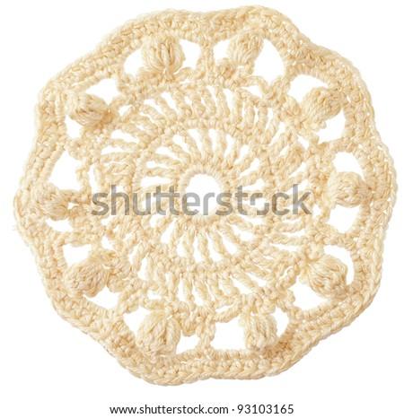 Handmade Crochet Round Motif Isolated On Stock Photo Edit Now
