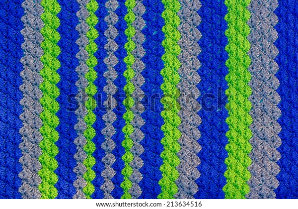online store 58bb4 39a0e Handmade Crocheted Seattle Seahawks Baby Blanket Stock Photo ...