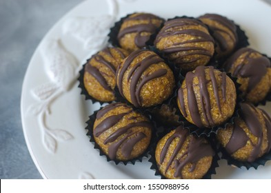 Handmade dried fruit candy nuts and chocolate