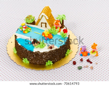 Handmade Fancy Cake Beautiful Eatable Kids Stock Photo Edit Now