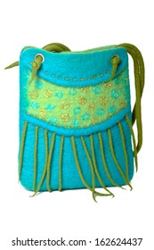 Handmade felted fashion bag
