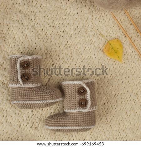 Handmade Gift Newborn Baby On Wintertime Stock Photo Edit Now