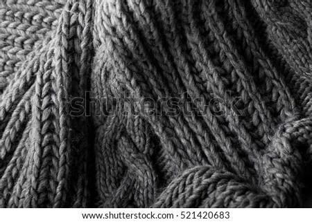 bb4d2016ccae10 Handmade Grey Knitting Wool Texture Background Stock Photo (Edit Now ...