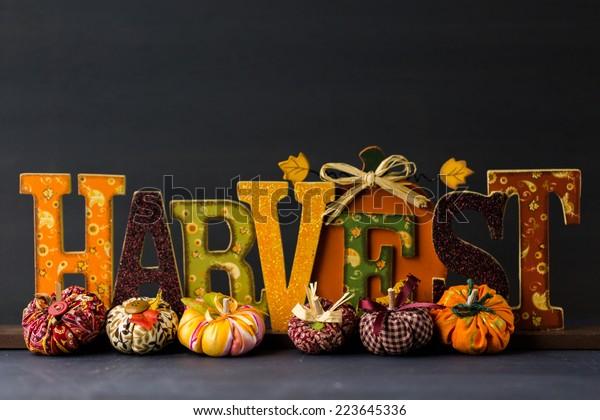 Handmade Halloween decorations from fabric.