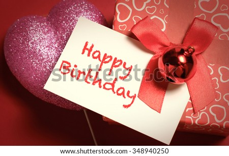 Handmade Happy Birthday Greetings Card On Stock Photo Edit Now