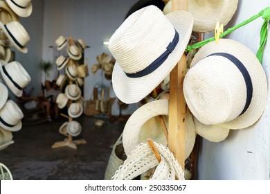 Handmade hats for sale in Cuba